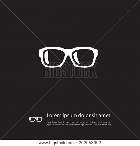 Specs Vector Element Can Be Used For Specs, Glasses, Eyeglasses Design Concept.  Isolated Nerd Icon.