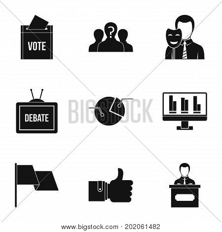 Consulting icons set. Simple style set of 9 consulting vector icons for web design
