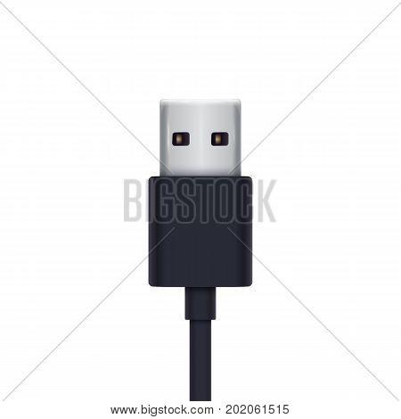 usb plug vector illustration, eps 10 file, easy to edit