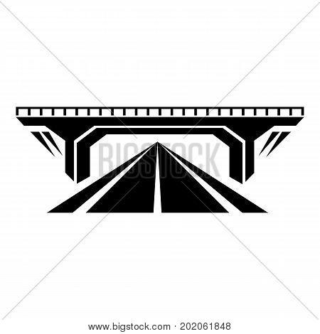 Concrete bridge icon. Simple illustration of concrete bridge vector icon for web