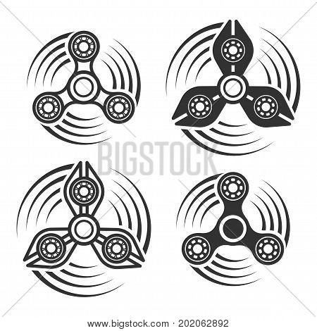 Set Of Hand Spinner Icons