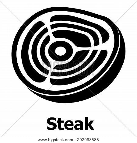 Steak icon. Simple illustration of steak vector icon for web