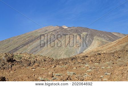 Volcanic and tropical landscape in Tenerife island, Spain