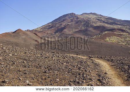 Volvanic landscape of Teide area in Tenerife island, Spain