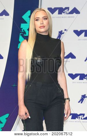 LOS ANGELES - AUG 27:  Anastasia Karanikolaou at the MTV Video Music Awards 2017 at The Forum on August 27, 2017 in Inglewood, CA