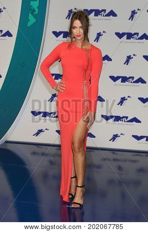 LOS ANGELES - AUG 27:  Erika Costell at the MTV Video Music Awards 2017 at The Forum on August 27, 2017 in Inglewood, CA