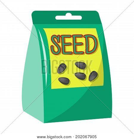 Seeds, single icon in cartoon style.Seeds, vector symbol stock illustration .