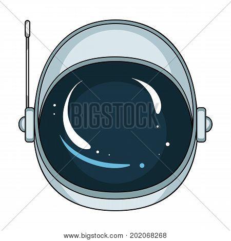 Protective helmet cosmonaut. Space technology single icon in cartoon style vector symbol stock illustration .