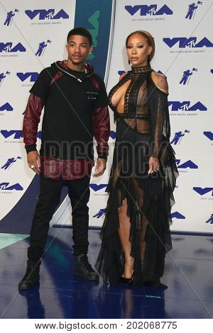 LOS ANGELES - AUG 27:  Rose Burgundy, Hazel-E at the MTV Video Music Awards 2017 at The Forum on August 27, 2017 in Inglewood, CA