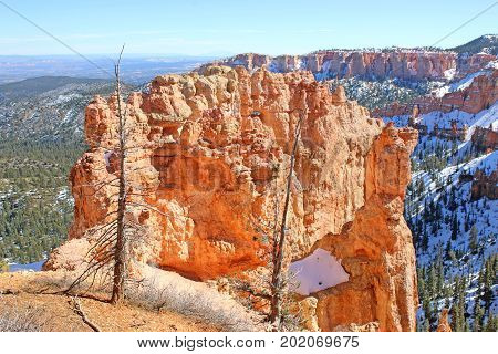 Bryce Canyon National Park, Utah in winter