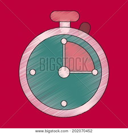 flat shading style icon stopwatch mechanical device