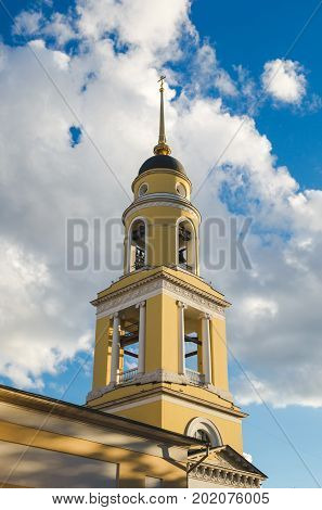 Moscow, Russia. Bell tower of the Greater Church of the Ascension