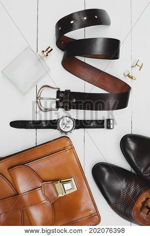 stylish Businessman accessories. Man's style. Men's Accessories