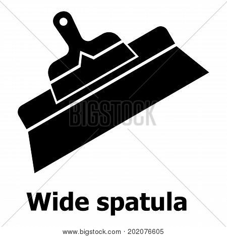 Wide spatula icon. Simple illustration of wide spatula vector icon for web