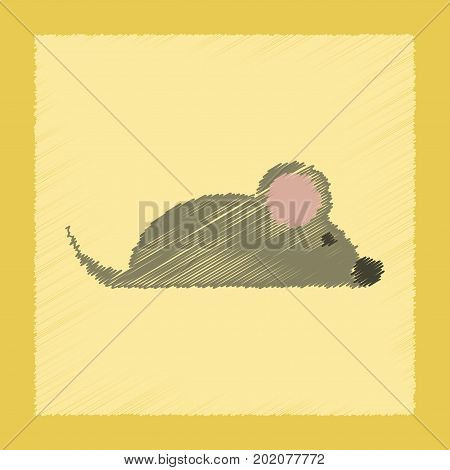 flat shading style icon of pet mouse