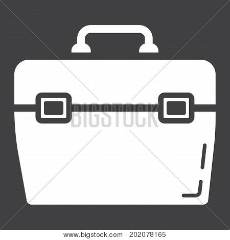 Toolbox glyph icon, build and repair, toolkit sign vector graphics, a solid pattern on a black background, eps 10.