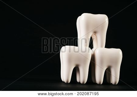 White Healthy Human Teeth