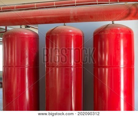 Cylinders Of Industrial Extinguishing System.