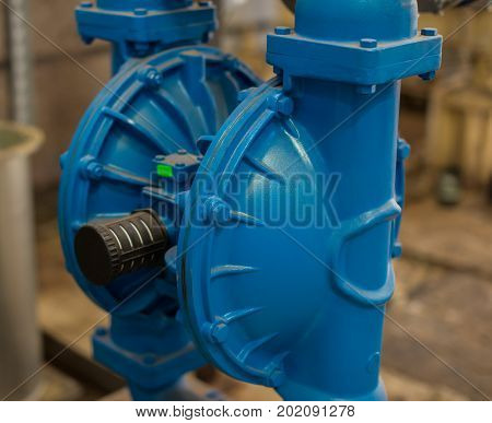 Diaphragm Pump (membrane Pump) In Petrochemical Plant.