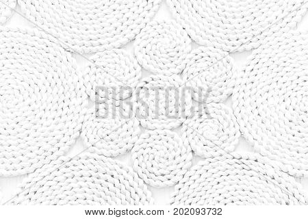 Pattern Nature For Background Of Handicraft Weave White Texture Wicker Surface