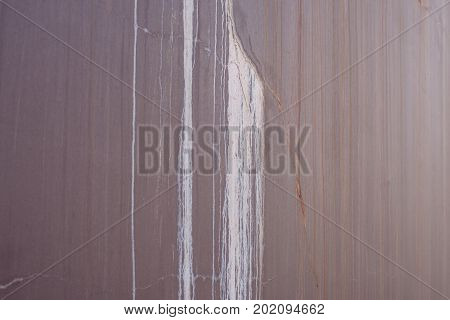 Rusted Metal Surface With Red Rust And White Smudges