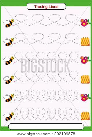pencil control Working pages for children tracing lines horizontal curved straight finemotor skills