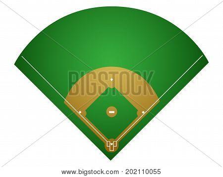 Isolated Baseball Field