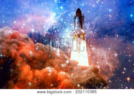 Spaceship In Outer Space