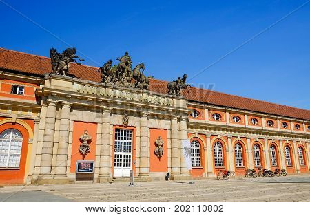 POTSDAM GERMANY - AUGUST 29 2017: View on the Filmmuseum Potsdam.