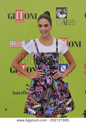 Giffoni Valle Piana Sa Italy - July 21 2017 : Rocio Munoz Morales at Giffoni Film Festival 2017 - on July 21 2017 in Giffoni Valle Piana Italy