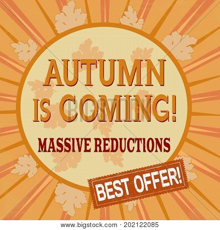 Autumn Is Coming, Massive Reductions Poster Design