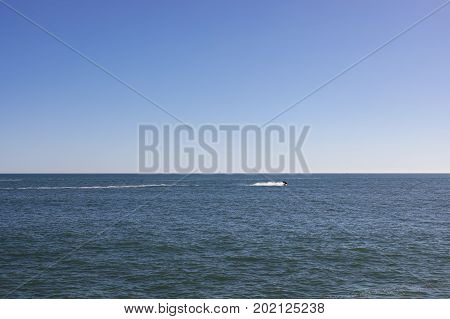Horizon view over Atlantic Ocean from Jard sur Mer in Vendee France