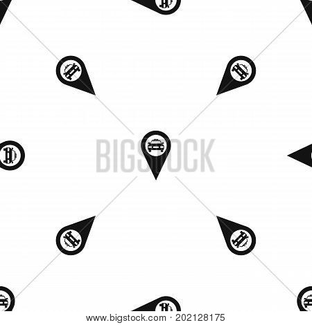 Geo taxi pattern repeat seamless in black color for any design. Vector geometric illustration