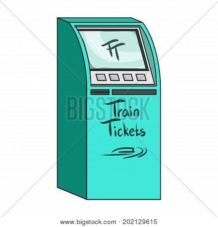 Terminal for train tickets. Terminals single icon in cartoon style isometric vector symbol stock illustration .