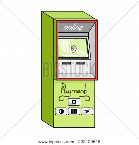 Terminal for various types of payment. Terminals single icon in cartoon style isometric vector symbol stock illustration .