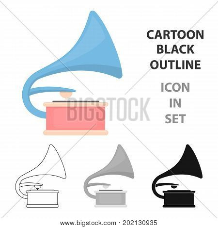 Gramophone icon of vector illustration for web and mobile design
