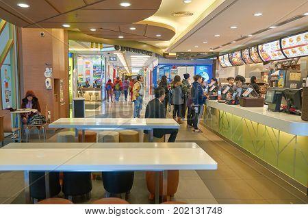 HONG KONG - JANUARY 27, 2016: McDonald's restaurant in Hong Kong. McDonald's is an American hamburger and fast food restaurant chain.