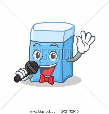 Singing eraser character mascot style vector illustration