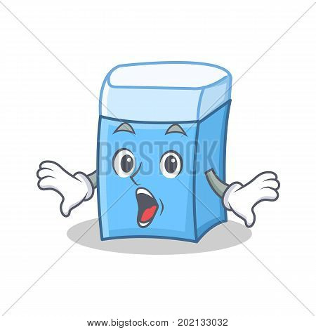 Surprised eraser character mascot style vector illustration