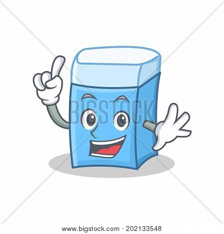 Finger eraser character mascot style vector illustration