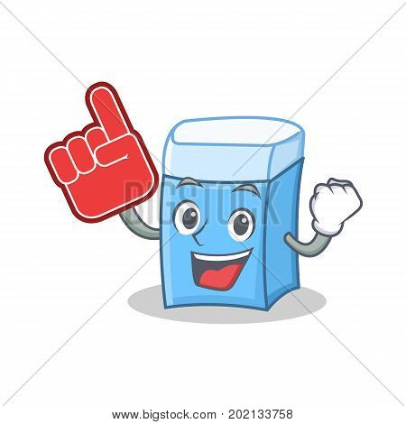 Foam finger eraser character mascot style vector illustration