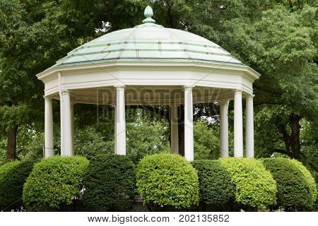 Gazebo at the United States Naval Academy Campus,  Annapolis, Maryland