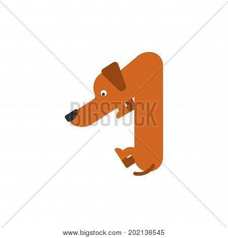 Figure 1 Dog. Dachshund Font One. Home Pet Abc Symbol. Home Animal An Alphabet Sign