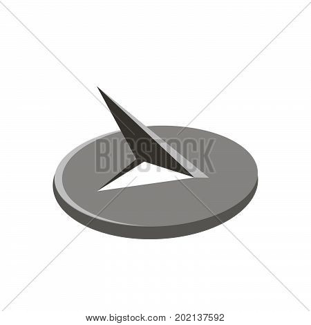 Push pin in a flat style. Attachment.Paperwork.Vector illustration isolated icon design
