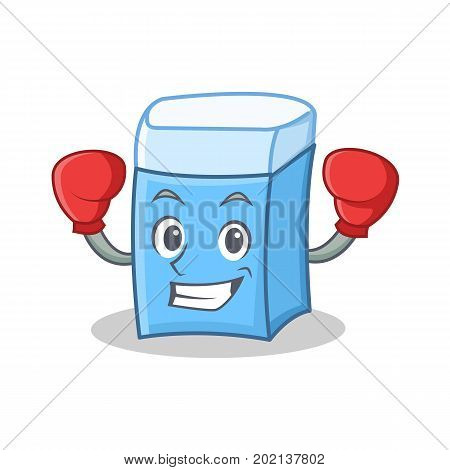 Boxing eraser character mascot style vector illustration