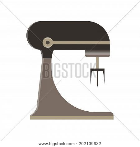 Mixer food kitchen blender white vector isolated stand electric icon chef cook home interior illustration
