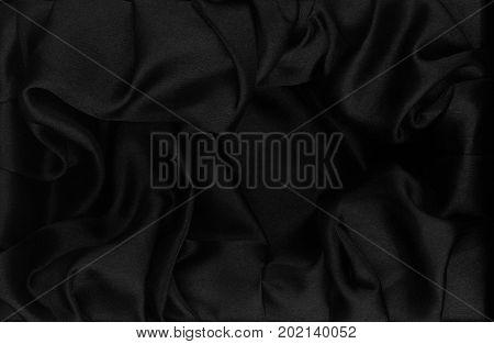 black silk fabric background texture dark pattern