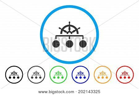 Rule Structure vector rounded icon. Image style is a flat gray icon symbol inside a blue circle. Additional color versions are gray, black, blue, green, red, orange.
