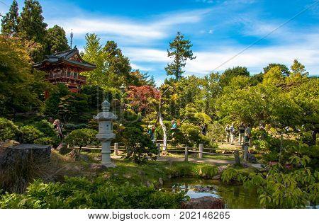 San Francisco, California, USA - June 18, 2014: Japanese Tea Garden - San Francisco, USA