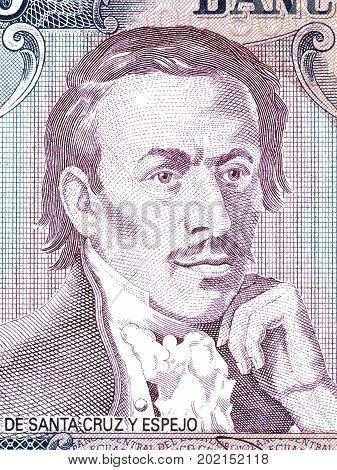 Eugenio Espejo portrait from Ecuadorian money - Sucres